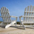 Chairs on Deck Facing Ocean — Stock Photo #9435289