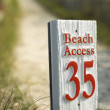 Beach access sign. — Stock Photo #9435413