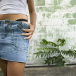 Woman in mini skirt. — Stockfoto