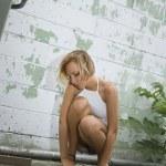 Blonde woman. — Stock Photo