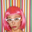 Woman in pink wig. — Stock Photo #9435882