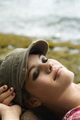 Young woman relaxing. — Stock Photo