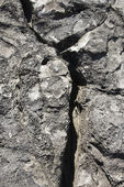 Lava rock with crack in Maui. — Stock Photo