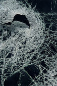 Cracked broken glass. — Stock Photo