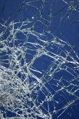 Cracked broken glass. — Stock Photo