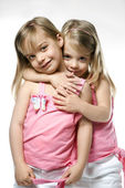 Girl twin children. — Stock Photo