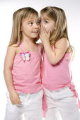 Girl children twin sisters. — Stock Photo