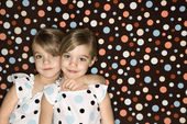 Twin girl sisters. — Stock Photo