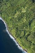 Wybrzeże Maui z drogi. — Zdjęcie stockowe