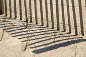 Fence on Bald Head Island. — Stock Photo