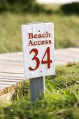 Beach access on Bald Head Island. — Stock Photo