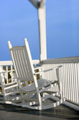 Rocking chairs on porch. — Stock Photo