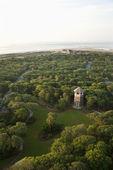 Tower in coastal park. — Stock Photo