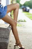 Legs of woman. — Stock Photo