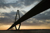 Cooper River Bridge in Charleston, South Carolina. — Stock Photo