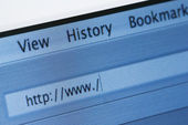 Internet Browser with Blank Web Address — Stock Photo