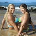 Women bodybuilders. — Stock Photo #9441667