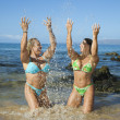 Women at beach. — Stock Photo #9441671