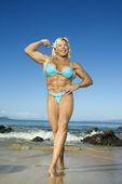 Bodybuilder femme. — Photo