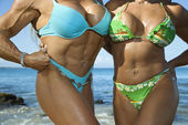 Women bodybuilders. — Stock Photo