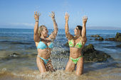 Women at beach. — Stock Photo