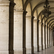 Stock Photo: Colonnade in Lisbon.