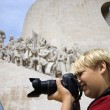 Boy photographing. — Stock Photo