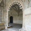 Ornate arched doorway in Jeronimos Monastery. — Stock Photo