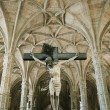 Crucifixion scene in Jeronimos Monastery in Lisbon, Portugal. — Stock Photo