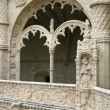 Arched Ornate Relief at the Monastery of Jeronimos - Stok fotoğraf
