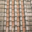 Rooftop clay terracotta shingles. — Stock Photo