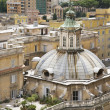 Domed Building and Roof Garden in Rome - Stock Photo