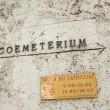 Coemeterium in Rome. - Stock Photo