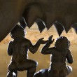 Close-up of Romulus and Remus Statue - Stockfoto