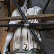 Statue under restoration. - 