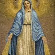 Mosaic of Virgin Mary Wearing Crown — Stock Photo #9496707