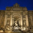 Trevi Fountain at Night - Stock Photo