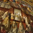 Fresco in Vatican Museum. - Stockfoto