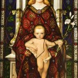 Stained Glass Window of Madonna and Child — Stock Photo #9496808