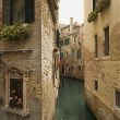 Back Alley Waterway in Venice — Stock Photo