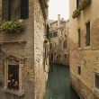 Back Alley Waterway in Venice — Stok fotoğraf