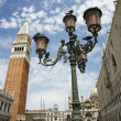 Street Lamp and Bell Tower at St Mark's Basilica — Stock Photo