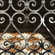 Wrought iron gate. - Stock Photo
