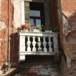 Balcony and flowers. - Foto de Stock
