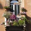 Balcony and Flowers — Foto Stock