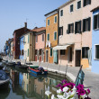 Buildings and Boats on Venice Canal — Stock Photo