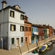 Buildings and Boats on Canal in Venice — Stockfoto