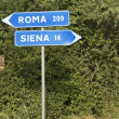 Italian street signs. — Stock Photo