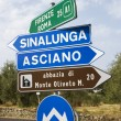 Italian road signs. — Foto de Stock