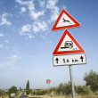 Rural Road Sign in Europe — Stock Photo
